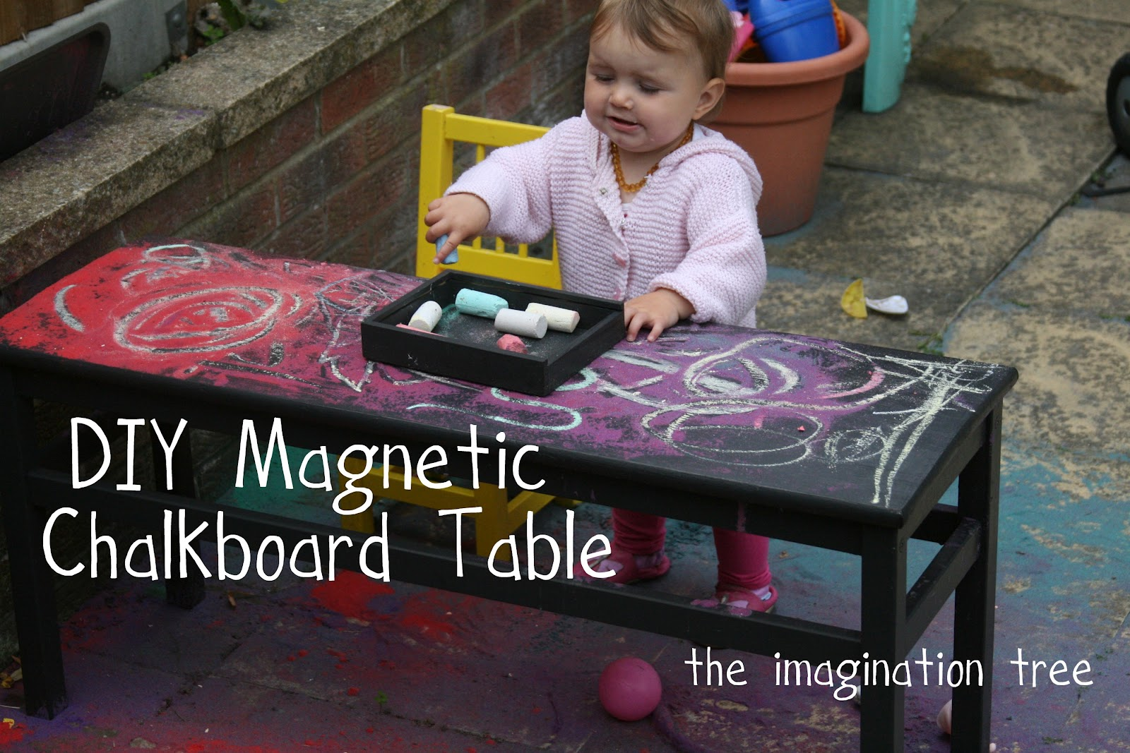 DIY Magnetic Chalkboard Table The Imagination Tree