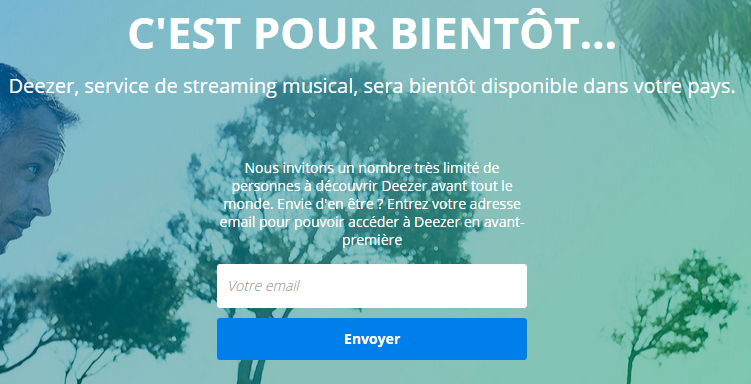 Restriction Géographique de Deezer