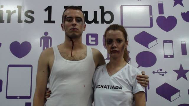 Rafucko e Julia Petit criaram maquiagem contra ataque homofóbico em festival de internet (Foto: Divulgação)