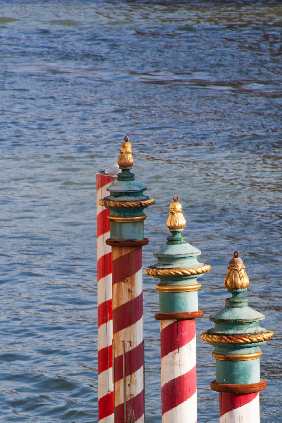 colourful poles