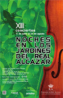 Programación de actuaciones del 9 al 15 de julio de 2012 en las XIII Noches en los jardines del Real Alcázar de Sevilla