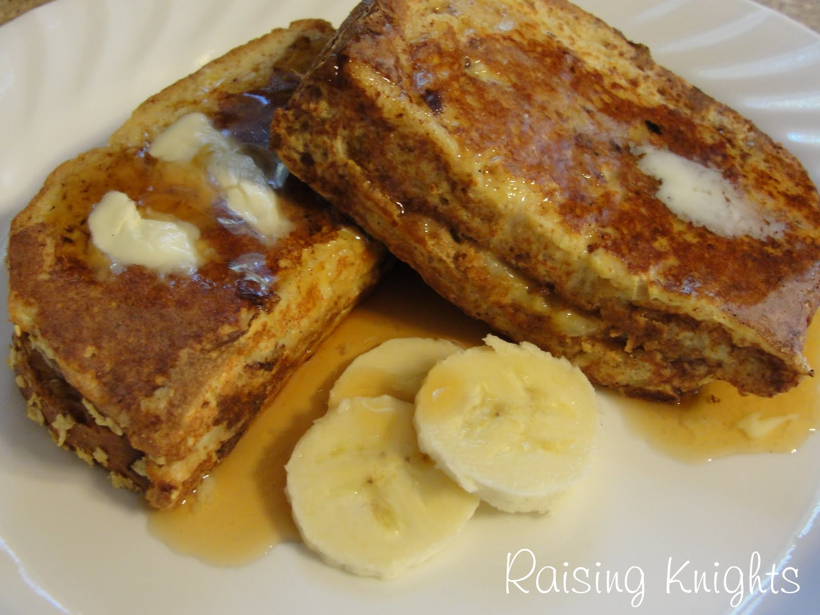 Raising Knights: Peanut Butter Banana French Toast