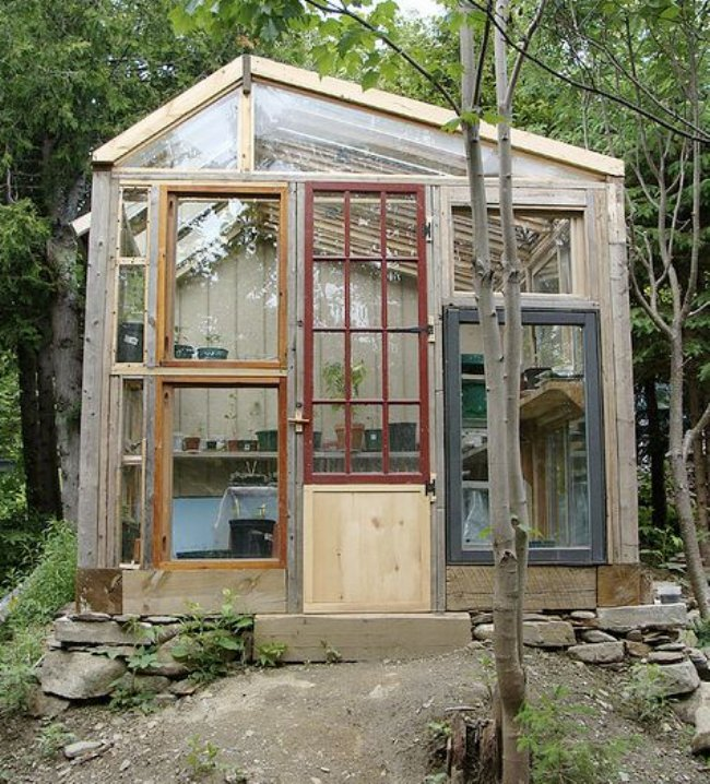 The art of up cycling diy greenhouses build a green for Build a green home