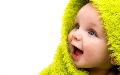Baby cute wallpaper with beautiful eyes and laugh