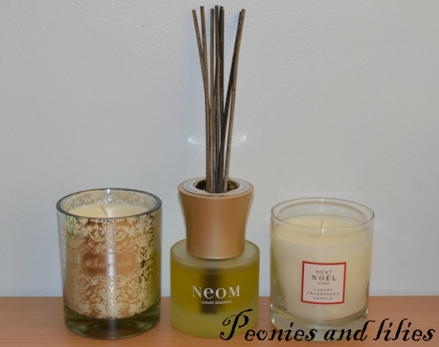 Elemis the royal candle, Neom christmas wish organic reed diffuser, Next Noel luxury fragranced candle, Festive scents, Christmas scents, Elemis the royal candle review, Neom christmas wish organic reed diffuser review, Next Noel luxury fragranced candle review, Scented candles, Christmas fragrances, Elemis, Neom luxury organics, Next