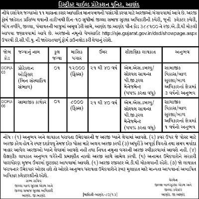 District Child Protection Unit Job