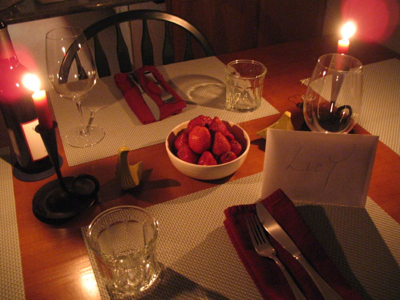 valentines day dinner table set decoration 2013