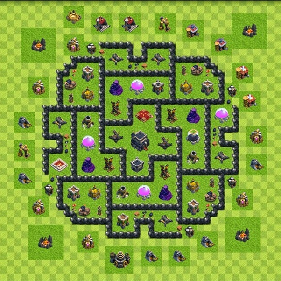 Ensidia clash of clans best th 9 defense layout
