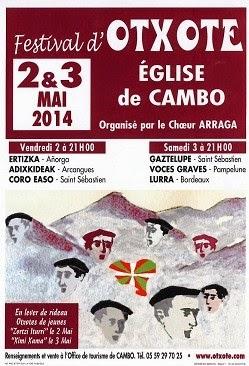 Festival d'Otxote de Cambo Les Bains 2014