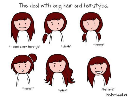 Hair Style Quotations : Las peleas con el pelo largo y el peinado.