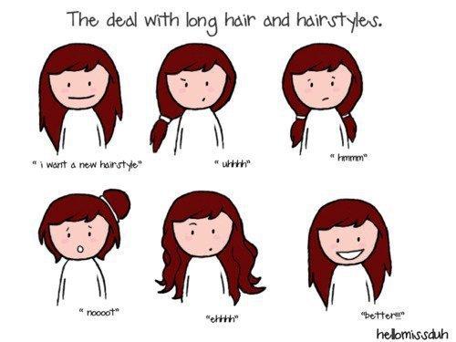 Hair Style Quotations : Las peleas con el pelo largo y el peinado.