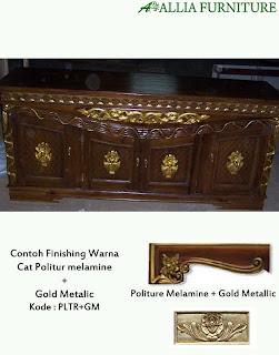 Contoh Furniture Politure Melamine Kombinasi emas