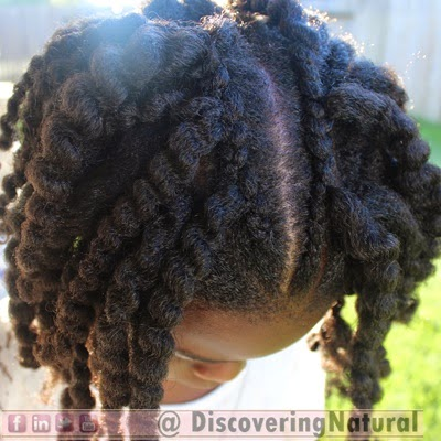 Waterfall Braids on Natural Hair