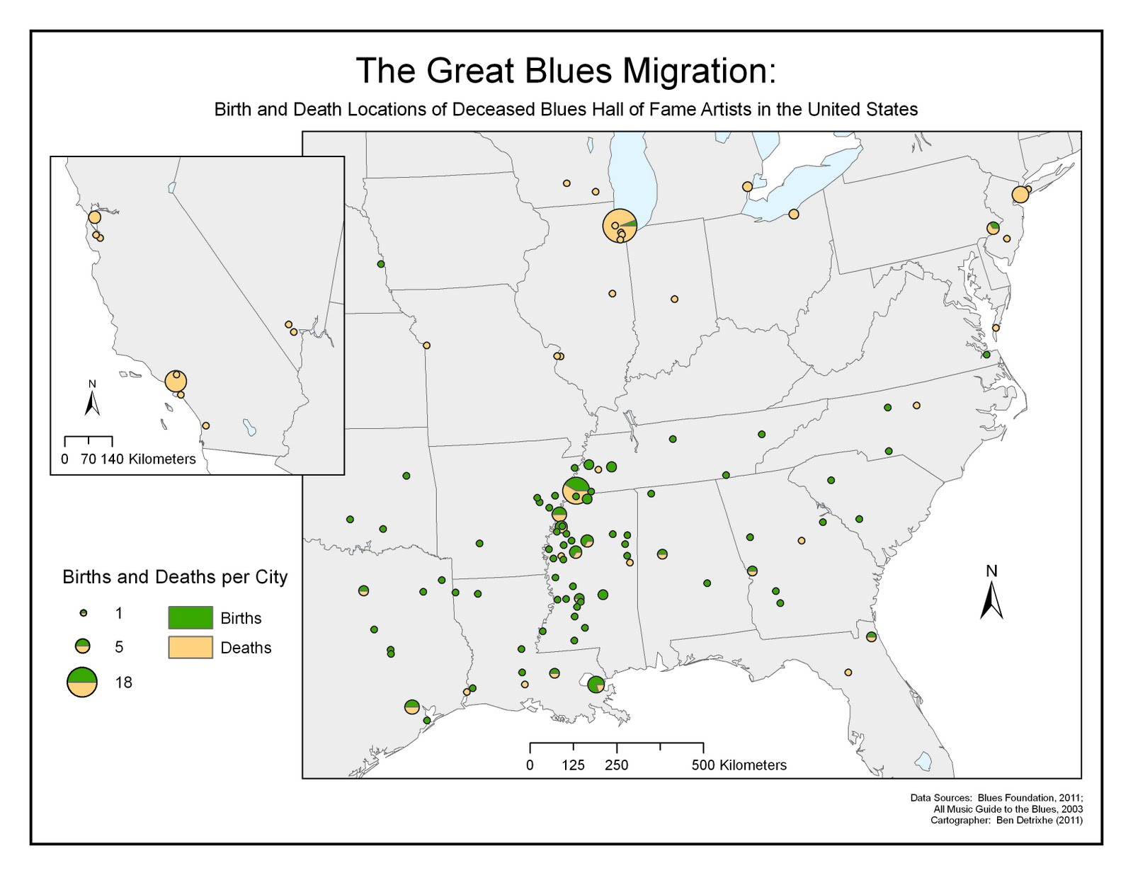 map the great blues migration