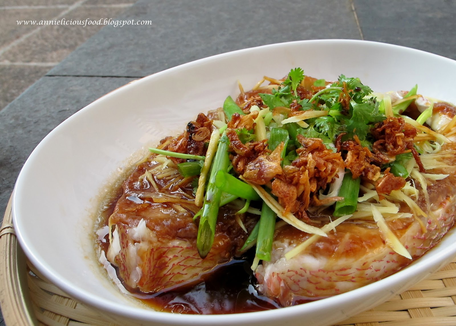 Annielicious food steamed fish with fermented bean paste for Chinese steamed fish recipe