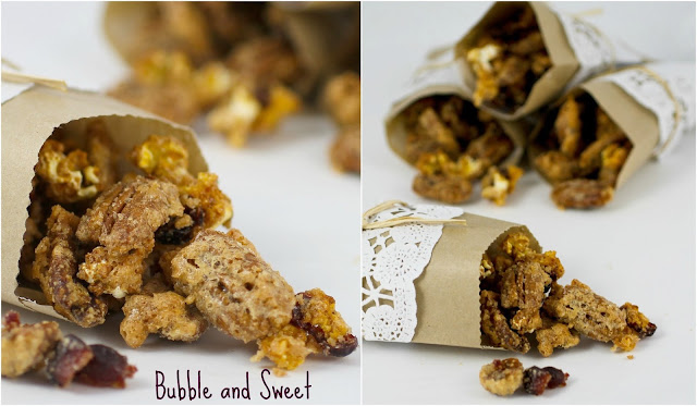Bubble and Sweet: Sugar spice cranberry pecan and popcorn mix