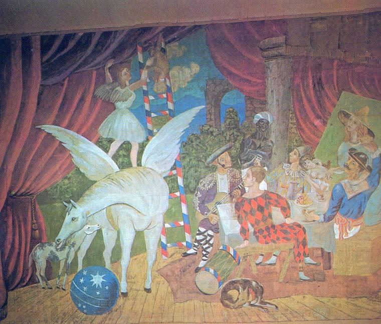 PICASSO, Pablo. Detalhe da cortina de cena para o balé Parada [Parade] (Paris, 1917).