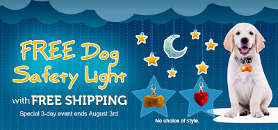 Free Dog Safety Light on 08/01 - 08/03 at 8:30PM EST (first 100)
