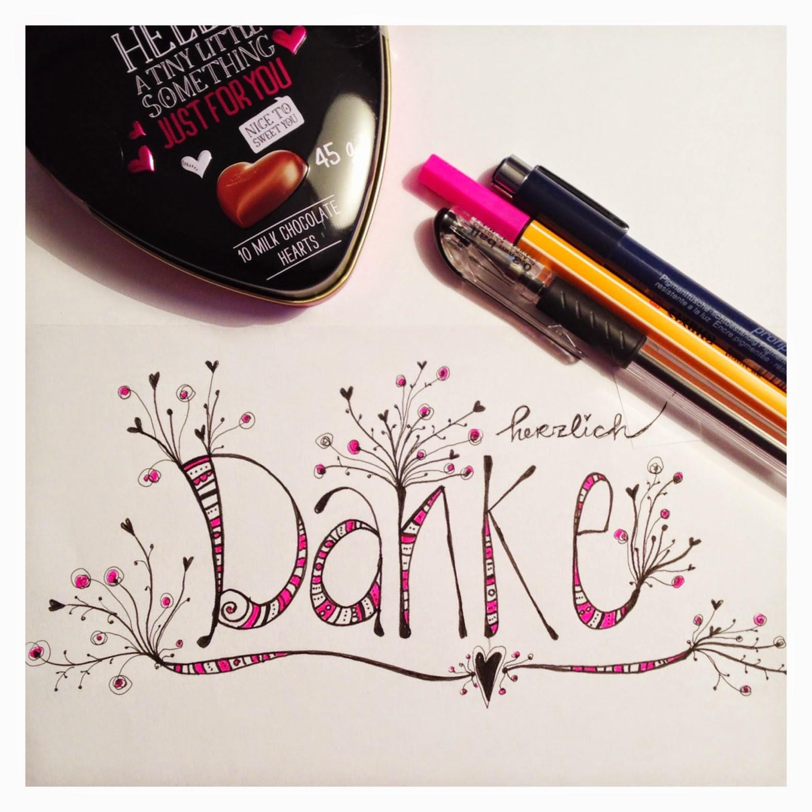 mit Strich und Faden | Herzlichen Dank Sketch Doodle