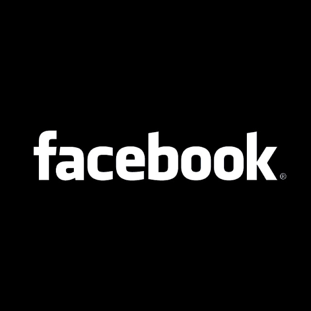 facebook logo black