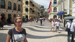 Elsie with her designer glasses in Senado Square.