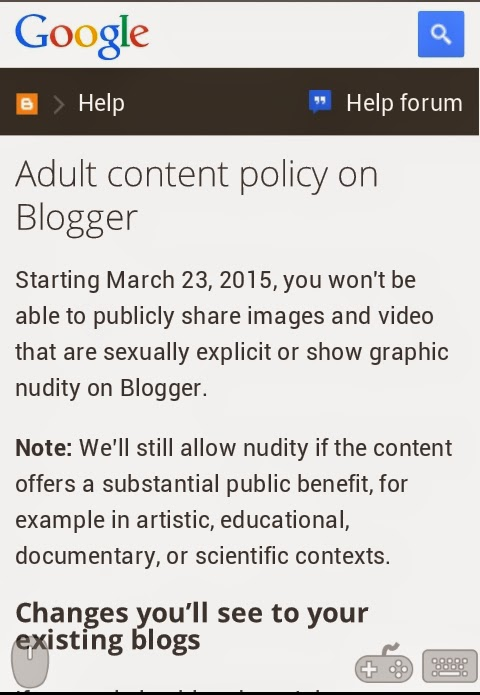 Google Blogger New Policy 2015