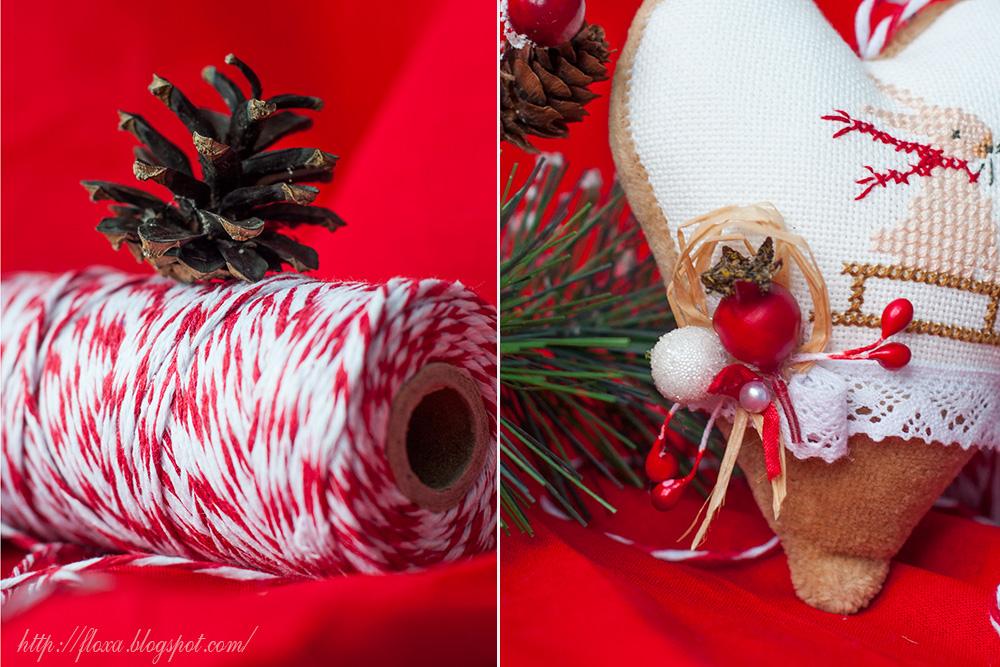 Christiane Dahlbeck Jahreszeiten Herbst & Winter, вышивка кролик, вышивка елочная игрушка