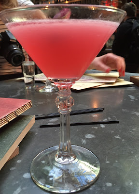 Rose Cosmo cocktail at The Botanist, Newcastle