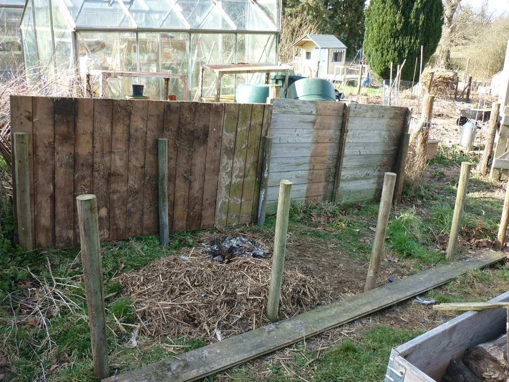 an english homestead making compost bins from recycled materials