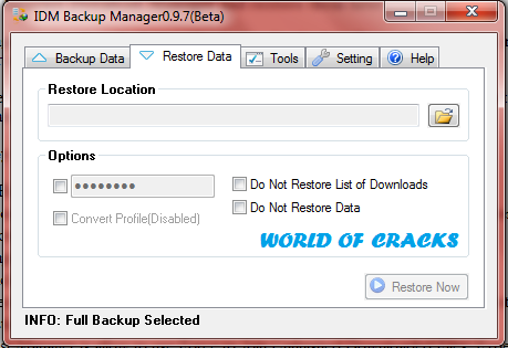 Internet Download Manager IDM Backup Manager 0.9.7 Beta3