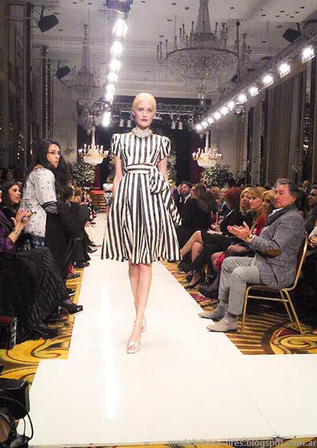 Jorge Ibañez ultima colección Desfile Desde el Cielo. Vestidos de fiesta Moda Argentina.