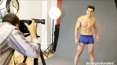 hom underwear backstage photo shoot by deadgoodundies