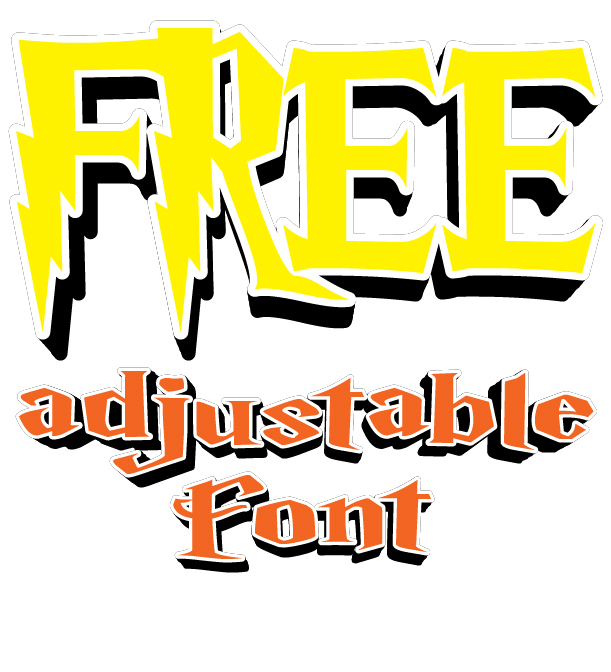 DOWNLOAD AWESOME FREE ADJUSTABLE VECTOR FONT