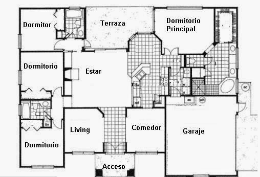 Planos de casas planos de casas tipo chalet for Fachadas de chalets de una planta