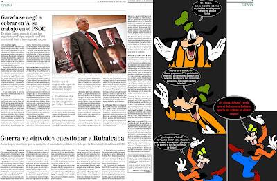 Guerra revela que el delincuente Garzón exigió en el PSOE cobrar en negro
