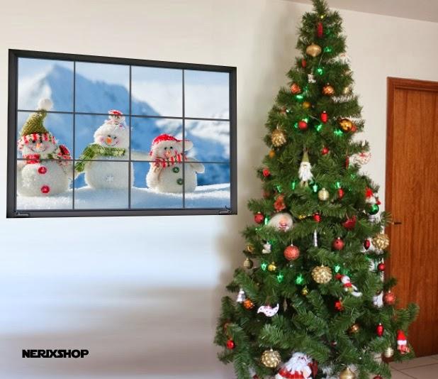 janela natalina