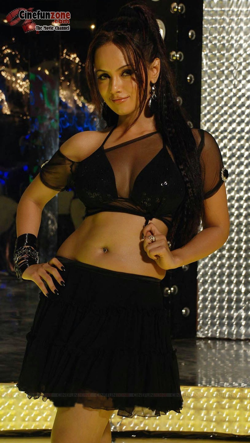 Sana Hot Song http://www.bollybreak.com/2012/04/sana-khan-hot-item-song-pics-black.html