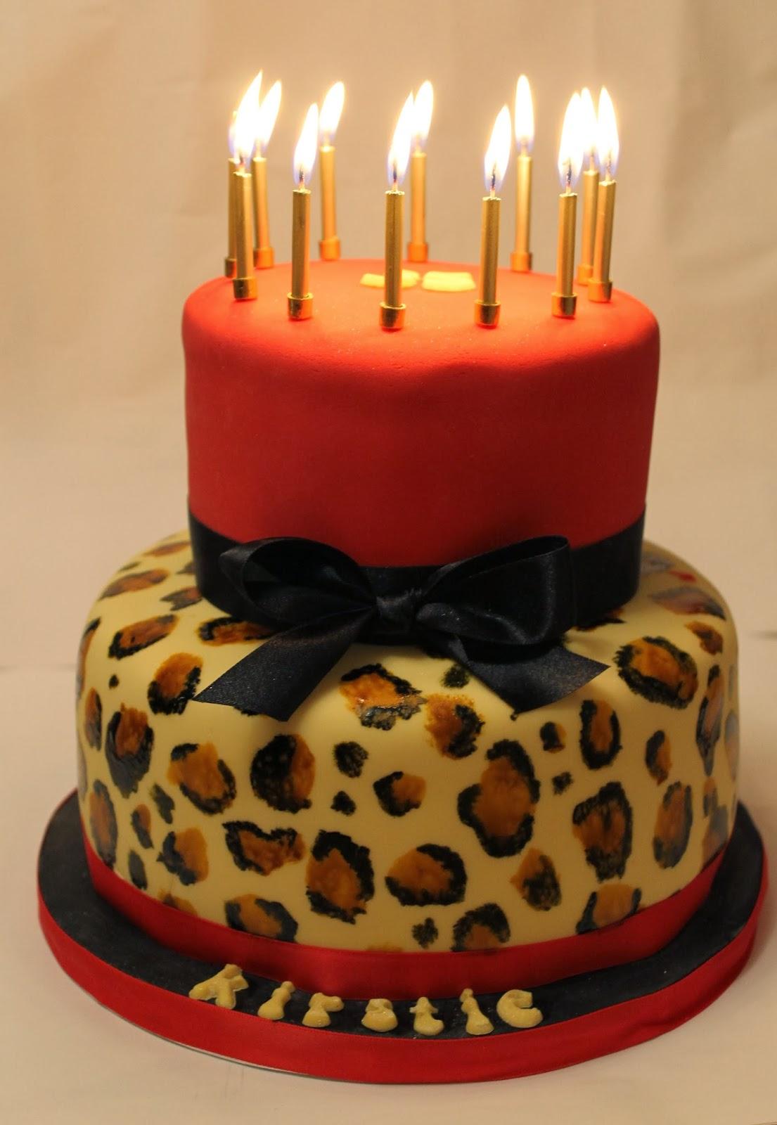 Bits N Bobs 2 Tier Leopard Print Birthday Cake