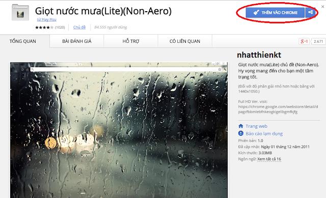 Chọn chủ đề (Theme) đẹp cho trình duyệt Google Chrome