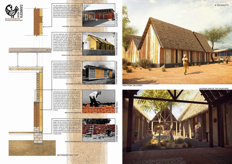 Projeto Open Source usando terra ganha concurso de arquitetura - Sankofa House