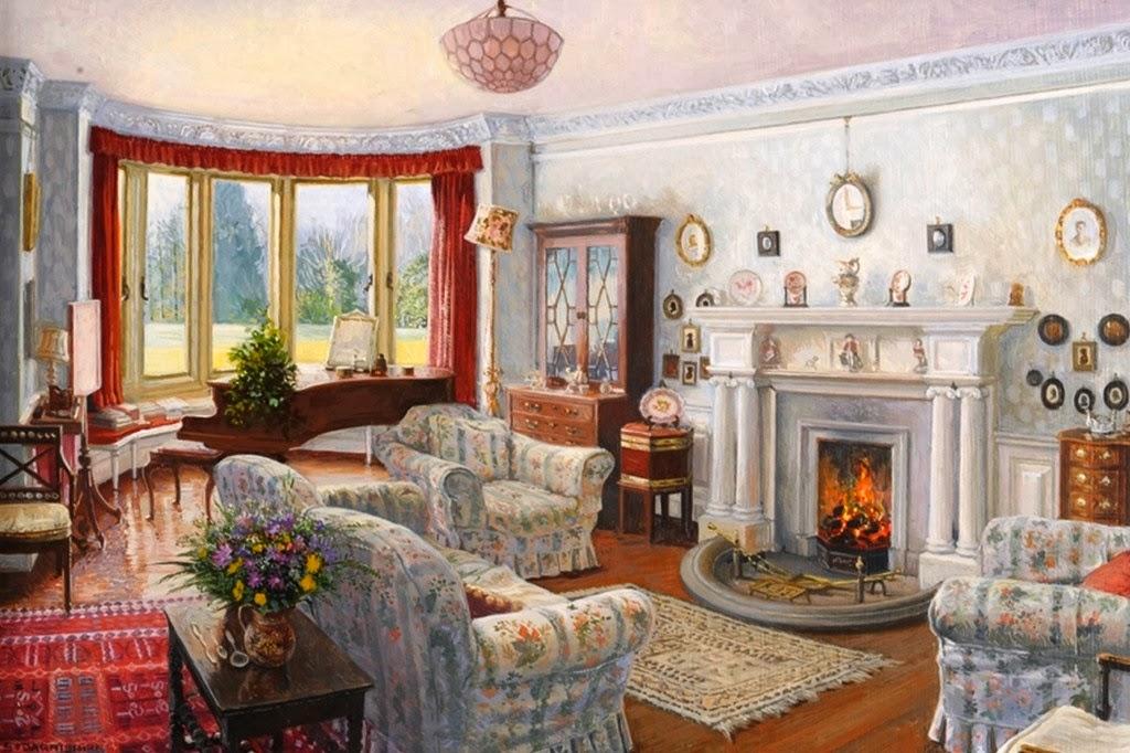 Arte pinturas leo pinturas interiores de casas obras de for Pinturas de casas interiores