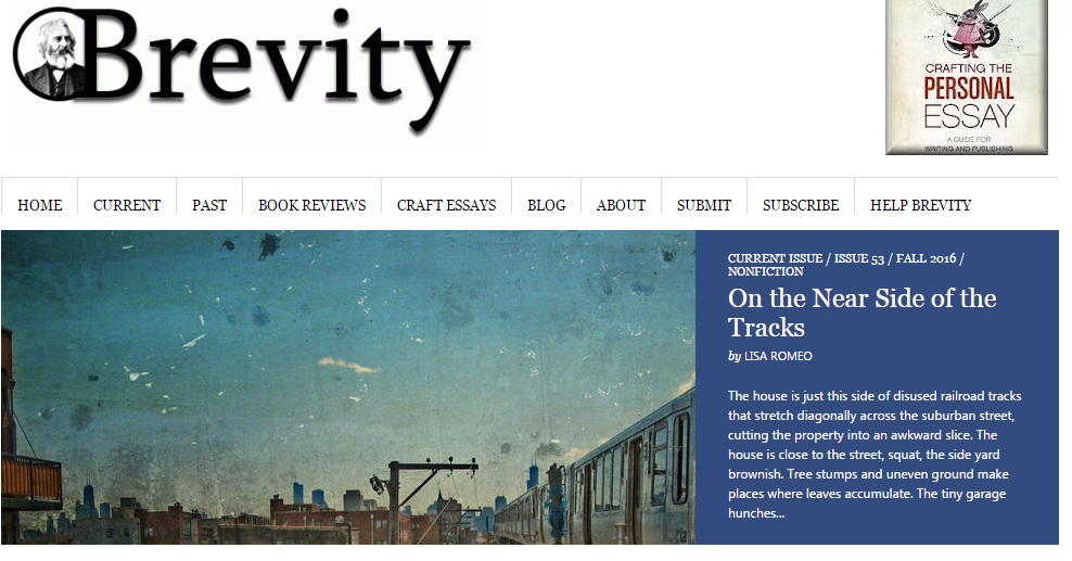 ...and at Brevity Magazine