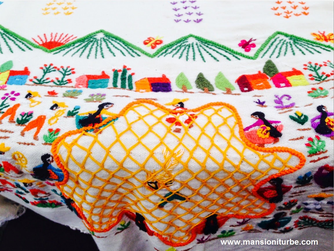 Embroidery from Santa Cruz at Lake Pátzcuaro Region