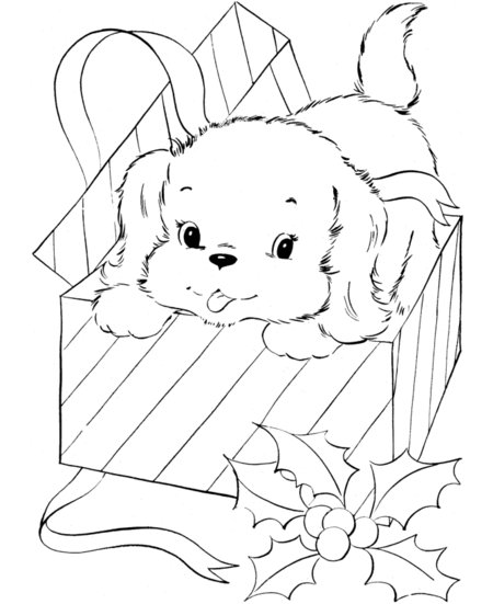 ... Coloring Pages as well Cute Puppy Christmas Coloring Pages Coloring