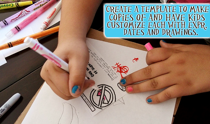Make a coupon template and photocopy it for easy coupon production.