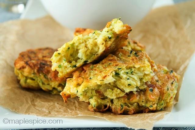 Zucchini Bhaji - vegan and gluten-free!