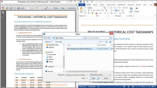 office 2013 PDF to Word