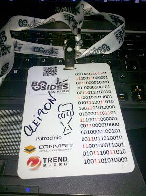 """Mais uma vez tenho a grande satisfação de participar da conferência O Outro Lado - Security BSides São Paulo (Co0L BSidesSP) que é uma mini-conferência sobre segurança da informação organizada por profissionais de mercado com o apoio do Garoa Hacker Clube com o objetivo de promover a inovação, discussão e a troca de conhecimento, além de divulgar os valores positivos e inovadores da cultura hacker.   Fiquei em uma divisão chamada Brazilian Arsenal, Brazilian Arsenal é um espaço para divulgar os projetos de ferramentas de segurança Open Source desenvolvidas por brasileiros, com objetivo de divulgar estas iniciativas, fomentar o uso destas ferramentas e atrair mais voluntários para estes projetos. No início cada projeto tem um espaço de até 10 minutos para se apresentar (no ritmo de Lightning Talks). Em seguida, iremos realizar atividades mão na massa, a escolha do mantenedor de cada projeto, que pode incluir um installfest, um laboratório ou mesmo um """"hackaton"""", aonde os presentes são convidados a desenvolver uma feature ou corrigir um bug do projeto."""