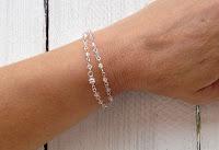 All handmade wrap around bracelet with Swarovski AB crystals