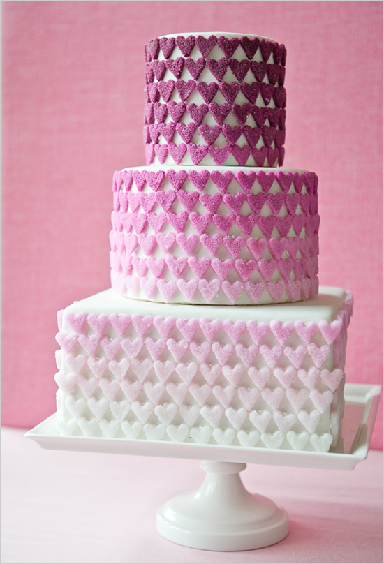 Beautiful Heart Cake Images : Libby on the Label: Ombre heart cake